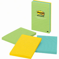 POST-IT 660-3AU LINED NOTES 101 X 152MM JAIPUR PACK 3