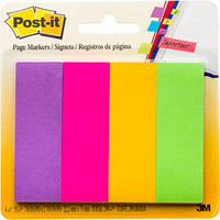 POST-IT 671-4AU PAPER PAGE MARKERS ULTRA LARGE 4 COLOURS