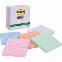 POST-IT 675-6SSNRP RECYCLED SUPER STICKY LINED NOTES 98 X 98MM BALI PACK 6