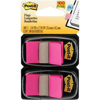 POST-IT 680-BP2 FLAGS BRIGHT PINK TWIN PACK 100