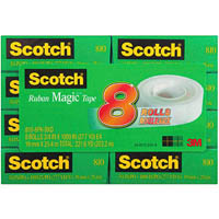 SCOTCH 810 MAGIC TAPE PACK 8