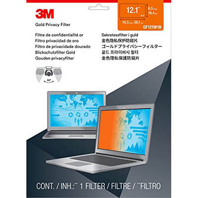 Image for 3M PF12.1W PRIVACY FILTER 12.1 INCH WIDESCREEN GOLD from Aztec Office National Melbourne