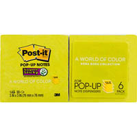 POST-IT R330-6SST RECYCLED SUPER STICKY POP-UP NOTES 76 X 76MM BORA BORA PACK 6