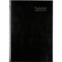 CUMBERLAND 2019-2020 FINANCIAL YEAR DIARY DAY TO PAGE CASEBOUND A4 BLACK