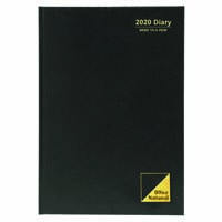 OFFICE NATIONAL 2020 DIARY DAY TO PAGE 15 MINUTES A4 BLACK