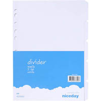 NICEDAY MANILLA DIVIDERS A4 5 TAB WHITE