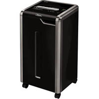 FELLOWES 325CI POWERSHRED COMMERCIAL SHREDDER CROSS CUT 100% JAM-PROOF 24 SHEET BLACK/GREY