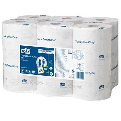 Image for TORK T9 SMARTONE MINI TOILET ROLL 2 PLY WHITE CARTON 12 from Exchange Printers Office National