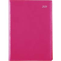 SOHO WEEK TO VIEW 2018 DIARY A4 1HR APPOINTMENTS PINK