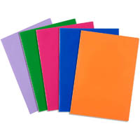 CONTACT BOOK SLEEVES 9 X 7 INCH ASSORTED SOLID PACK 5