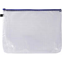 AVERY 49500 HANDY POUCH WITH ZIP A3 CLEAR AND BLUE