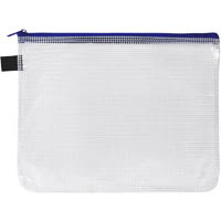 AVERY HANDY POUCH WITH ZIP A5 CLEAR AND BLUE