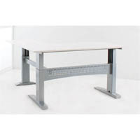 CONSET 501-11 ELECTRIC HEIGHT ADJUSTABLE L-SHAPED DESK 1800X800 X 1800X600 WHITE