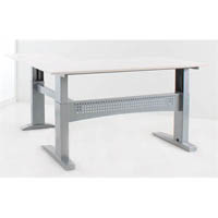 CONSET 501-11 ELECTRIC HEIGHT ADJUSTABLE L-SHAPED DESK 2000X800 X 2000X800 WHITE