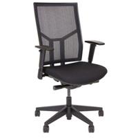 BURO ENDURA II CHAIR WITH MESH BACK AND SLIDING SEAT BLACK