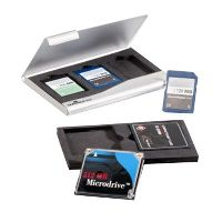 DURABLE MEMORY CARD BOX FOR 3 SD/MM CARDS OR 2 CF CARDS