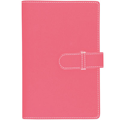 Image for DEBDEN ACCENT PU COMPENDIUM WITH A4 NOTEPAD PINK from Aztec Office National