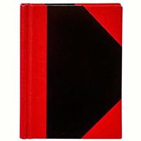 SPIRAX NOTEBOOK CASEBOUND RULED 100 LEAF A7 BLACK/RED