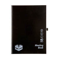 SPIRAX P703 MEETING BOOK SPIRAL BOUND 140 PAGE A4 BLACK