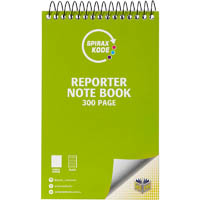 SPIRAX P956 KODE NOTEBOOK REPORTER 200 RULED PAGE 203 X 127MM GREEN
