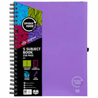 SPIRAX P960 KODE 5-SUBJECT NOTEBOOK SPIRAL BOUND 250 PAGE A4 ASSORTED