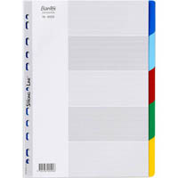 BANTEX PP DIVIDER 5 CUT TAB A4 ASSORTED