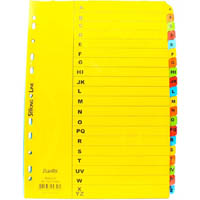 BANTEX MANILLA INDEX DIVIDER A-Z A4 COLOURED