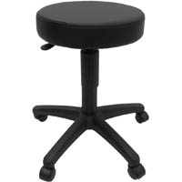 WERK PADDED STOOL PU SYNTHETIC LEATHER BLACK
