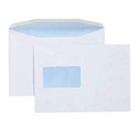 CUMBERLAND ENVELOPES WINDOW SECRETIVE MAILER LICK AND STICK 162 X 229MM WHITE BOX 500