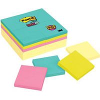 POST-IT 654-24SSCYM SUPER STICKY NOTES MIAMI 76 X 76MM 90 SHEETS PACK 24