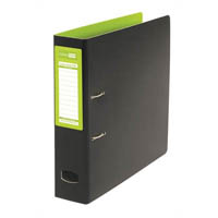 COLOURHIDE MIGHTY LEVER ARCH FILE A4 GREEN/BLACK
