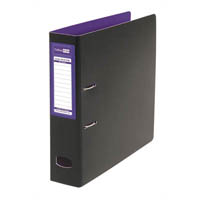 COLOURHIDE MIGHTY LEVER ARCH FILE A4 PURPLE/BLACK