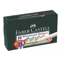 FABER-CASTELL WHITEBOARD MARKERS BLACK BOX 10