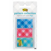 POST-IT 680-PLAID2 PLAID FLAGS GINGHAM COLLECTION 24 X 43MM PACK 60