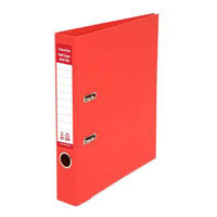 COLOURHIDE HALF LEVER ARCH FILE A4 RED