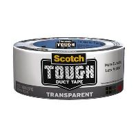 SCOTCH 2120A DUCT TAPE TOUGH INDIVIDUALLY WRAPPED 48MM X 18.2M TRANSPARENT