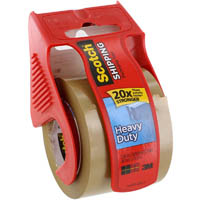SCOTCH 143 MAILING TAPE SUPER STRENGTH TAPE WITH DISPENSER 50.8MM X 20.3M TAN