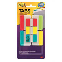 POST-IT 686-VAD2 DURABLE TABS 50MM VALUE PACK + BONUS 25MM TABS