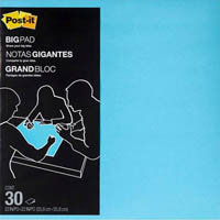 POST-IT BP22B BIG PAD 559 X 559MM ELECTRIC BLUE