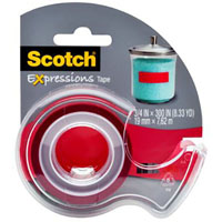 SCOTCH C214 EXPRESSIONS MAGIC TAPE RED
