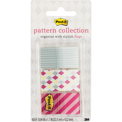 Image for POST-IT 682-CANDY PATTERN FLAGS CANDY COLLECTION ASSORTED PACK 60 from Dynamic Office National