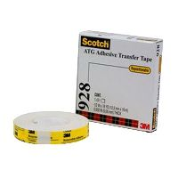 SCOTCH 928 TISSUE TAPE DOUBLE COATED REPOSITIONABLE 12.7MM X 16.4M WHITE