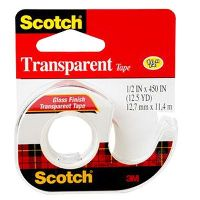 SCOTCH 144 TRANSPARENT TAPE ON DISPENSER 12MM X 11.4M