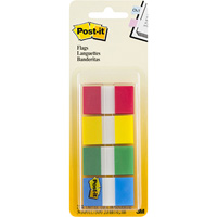 POST-IT 680-RYBG2 FLAGS 25MM ASSORTED PACK 40