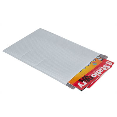 Image for CUMBERLAND PLASTIC BUBBLE LINED MAILER 266 X 381MM PLAIN WHITE PACK 5 from Our Town & Country Office National