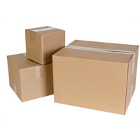 CUMBERLAND SHIPPING BOX HEAVY DUTY 369 X 305 X 102MM BROWN PACK 25