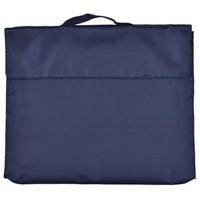 CUMBERLAND NYLON LIBRARY BAG WITH HOOK N LOOP CLOSURE FLAP NAVY BLUE