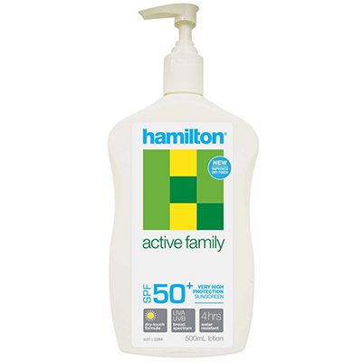 Image for HAMILTON ACTIVE FAMILY SUNSCREEN SPF50+ 500ML from Coleman's Office National