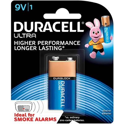 Image for DURACELL ULTRA ALKALINE 9V BATTERY from Wetherill Park / Smithfield Office National