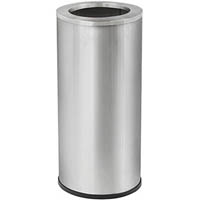 COMPASS BRUSHED STAINLESS STEEL TIDY BIN WITH GALVANISED LINER 45 LITRE